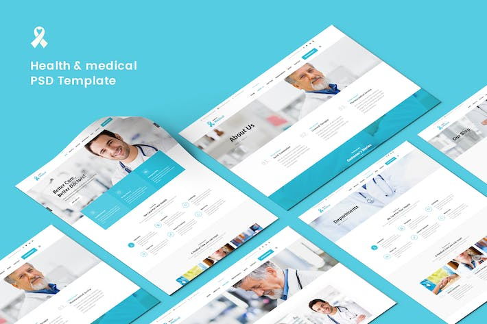 Cover Image For Health & medical PSD Template