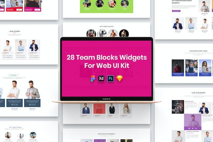 28 Team Blocks Widgets for Web UI Kit