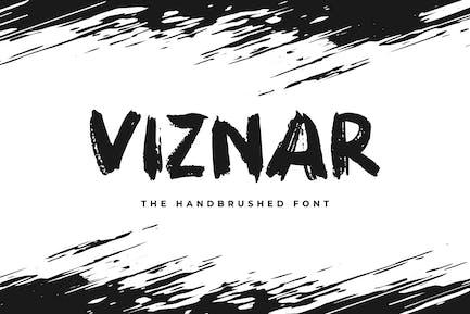 Viznar - The Handbrushed Font