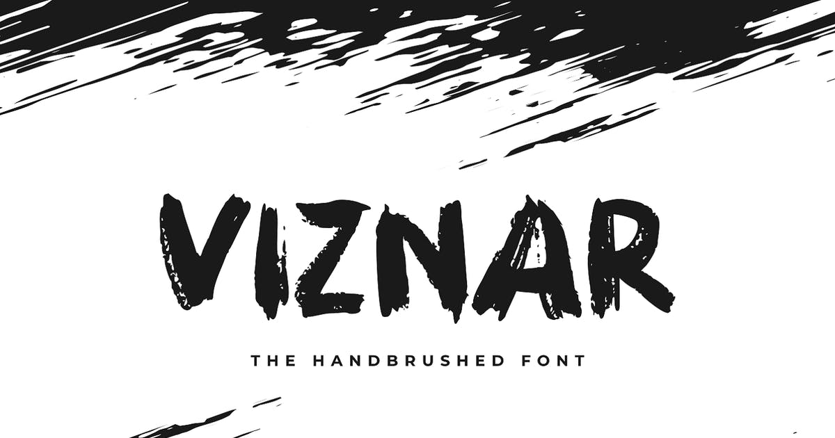 Download Viznar - The Handbrushed Font by Graphicfresh