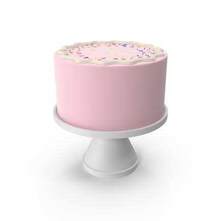 Rosa Geburtstagskuchen