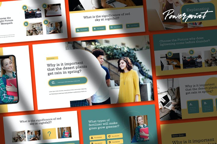 Thumbnail for Quizy - Quiz theme Powerpoint Template