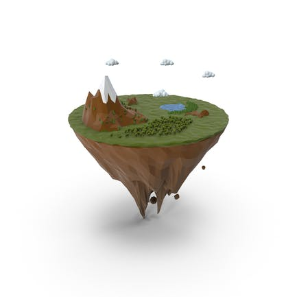 Insel Lowpoly