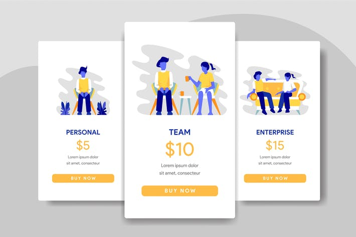Thumbnail for Pricing Table Comparison with Teamwork Illustratio