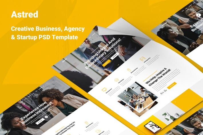 Thumbnail for Astred - Modern Multi Purpose PSD Template