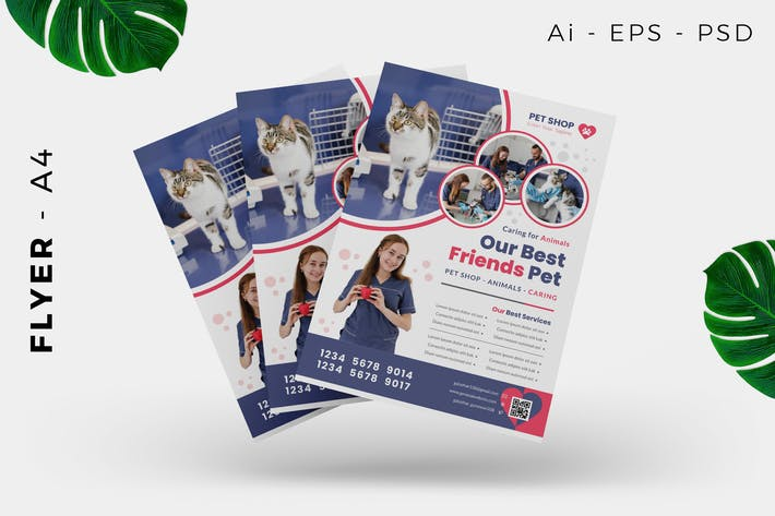 Thumbnail for Pet Care / Food / Store Flyer Design