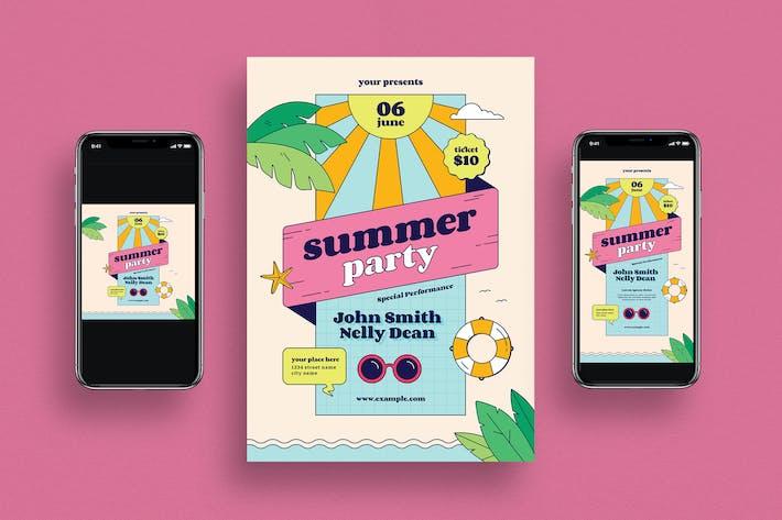 Thumbnail for Summer Party Flyer + Social Media