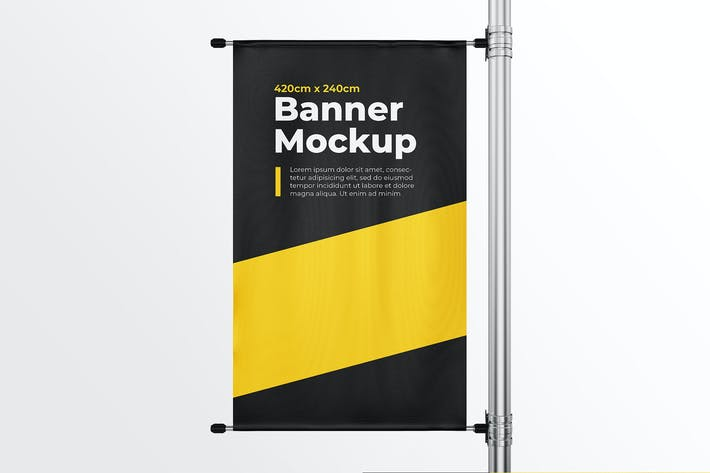 Thumbnail for Pillar Banner Mock-Up Template