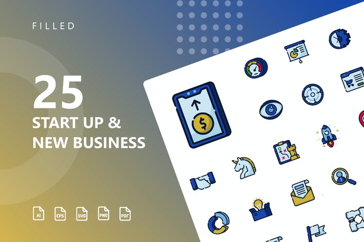 Thumbnail for Start Up & Business Filled Icons