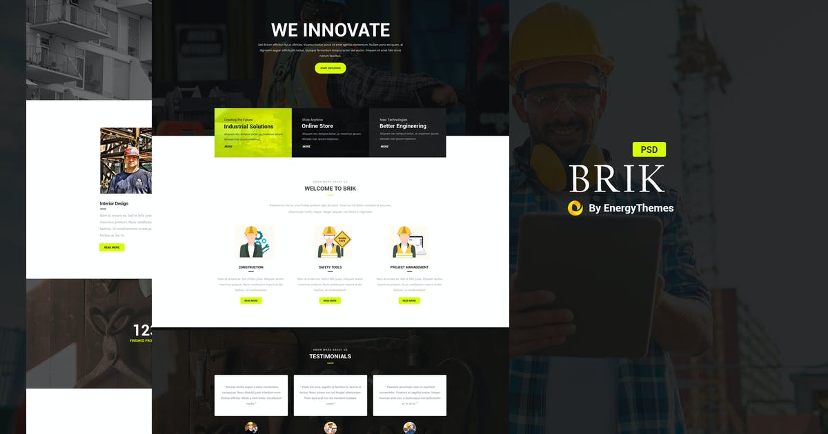 Download Brik - Construction & Building PSD Template by Unknow