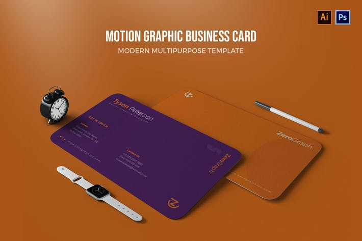 Thumbnail for Motion Graphic - Business Card