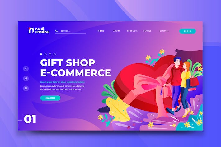 Thumbnail for Gift Shop E-Commerce Web PSD and AI Template