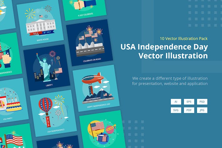 Thumbnail for USA Independence Day July 4 - Vector Illustration