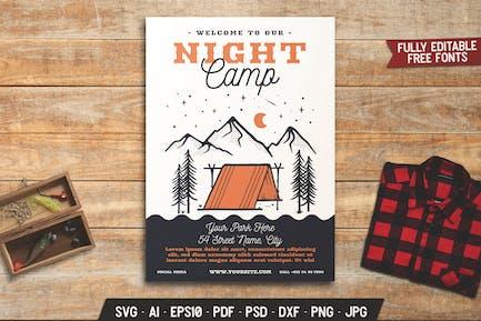 Summer Night Camp Flyer