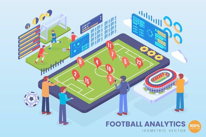 Thumbnail for Isometrische Fußballanalytik Vektor konzept