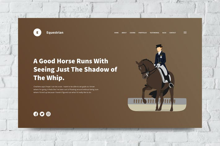 Thumbnail for Equestrian Web Header PSD and Vector Template