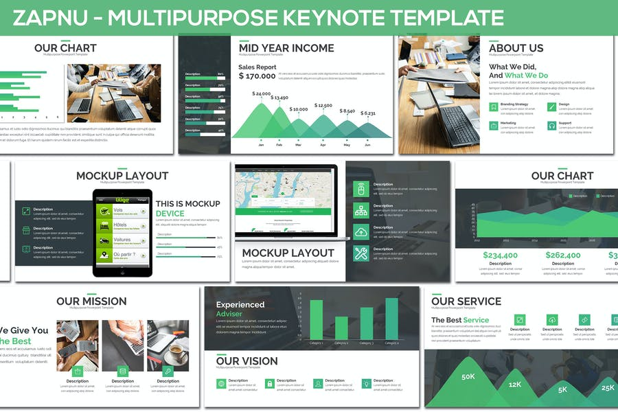 Zapnu - Multipurpose Keynote Template