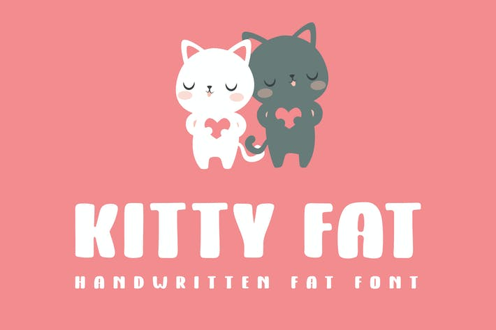 Thumbnail for Kitty Fat - Handwritten Font