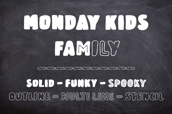 Thumbnail for Monday Kids - 6 Fonts Family