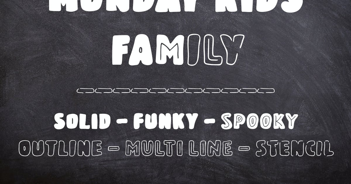 Download Monday Kids - 6 Fonts Family by Muse-Master