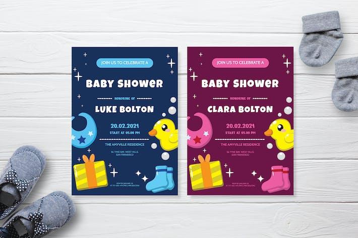 Baby-Geschenk - Einladung zur Babyparty