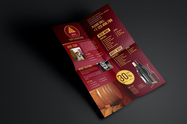 Cover Image For Winery - Flyer Template