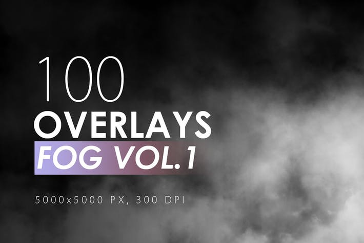 Thumbnail for 100 Fog Overlays Vol. 1