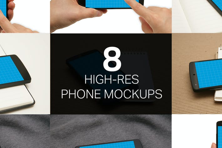 Thumbnail for 8 Phone Mockups