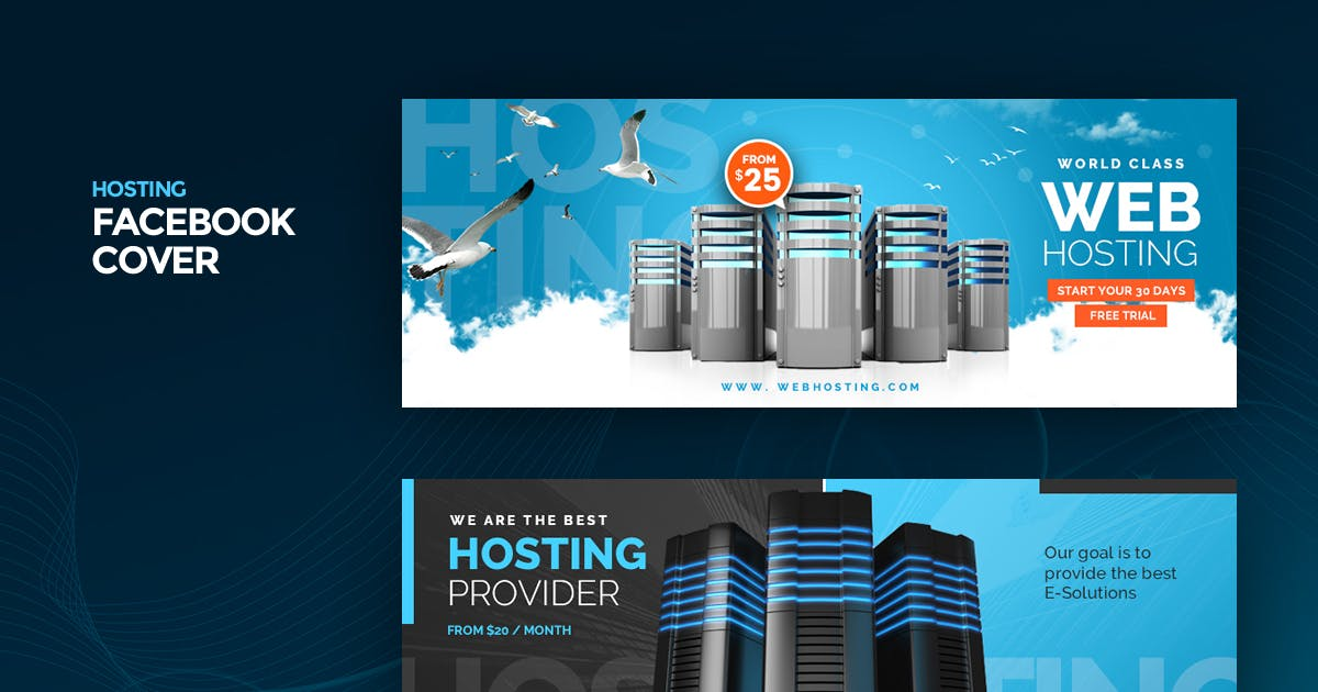 Download Hosting Facebook Cover Template by Last40