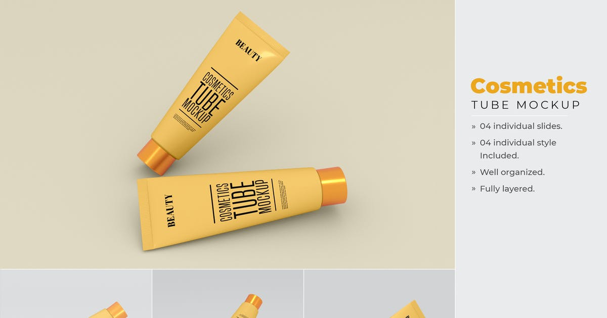 Download Cosmetics Tube Mockup - Vol 01 by xvector-team