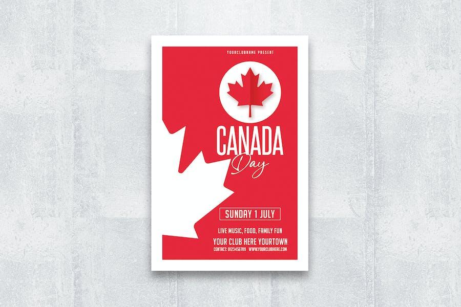 dépliant de la fête du Canada