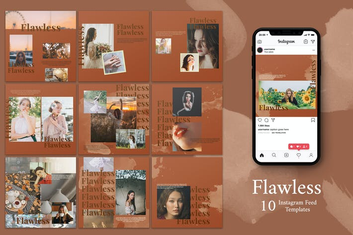 Cover Image For Flawless - Instagram Post Template