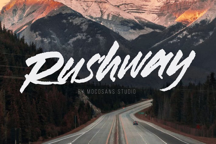 Thumbnail for Rushway - Handwriting Display Font