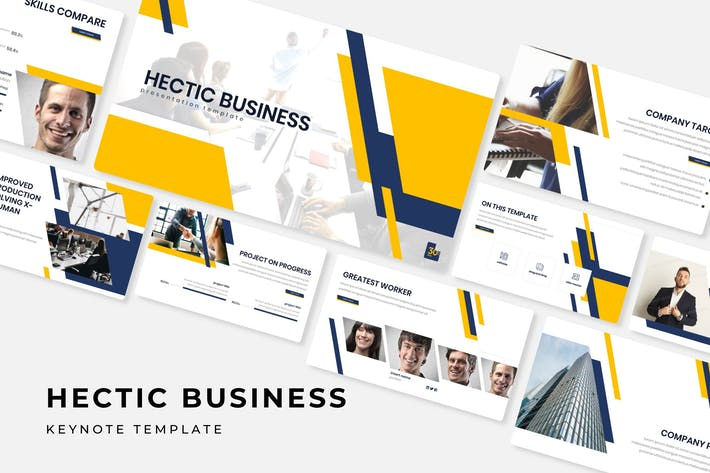 Thumbnail for Hectic Business - Keynote Template