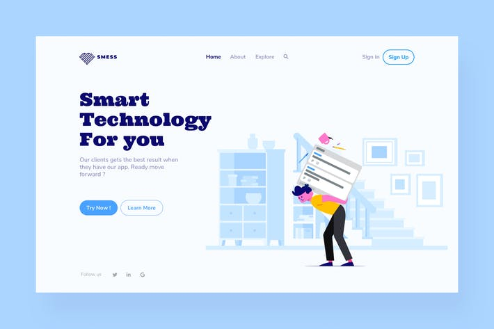 Cover Image For Technology Landing Page Illustration