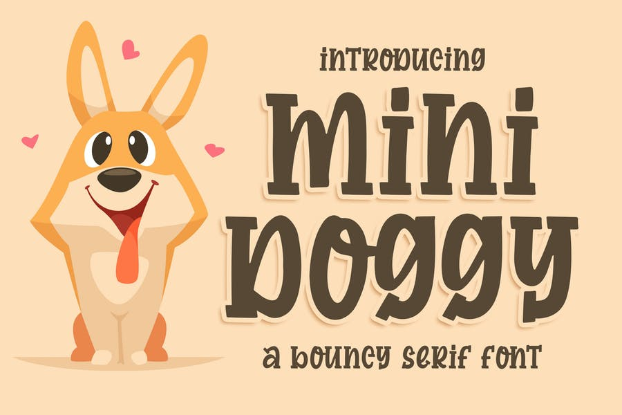 Mini Doggy a Bouncy Serif Font