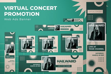Virtual Concert Promotion - Web Ads Banners
