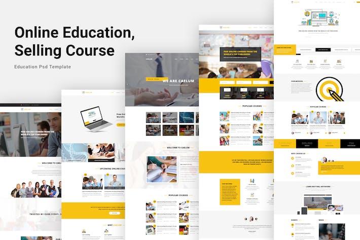 Thumbnail for Caelum - Bildung PSD Vorlage
