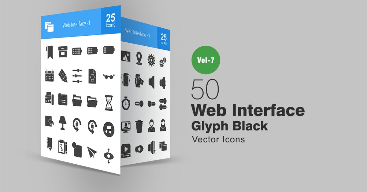 Download 50 Web Interface Glyph Icons by Unknow