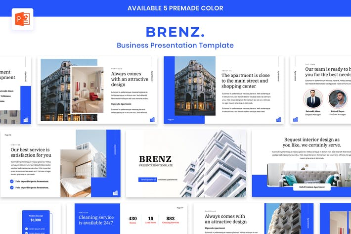 Thumbnail for BRENZ - Business Apartment Presentation Powerpoint
