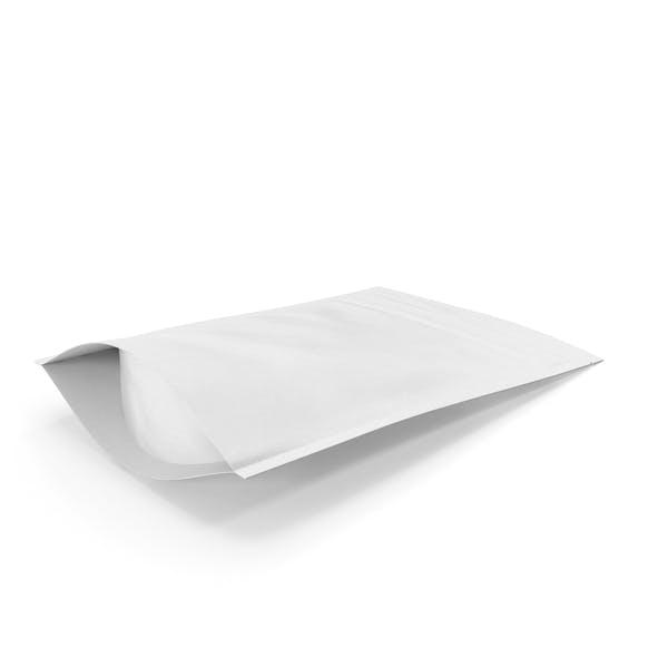 Zipper White Paper Bag 150g