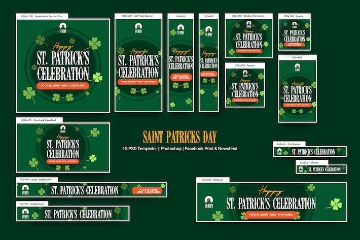 Bannières de la Saint Patricks