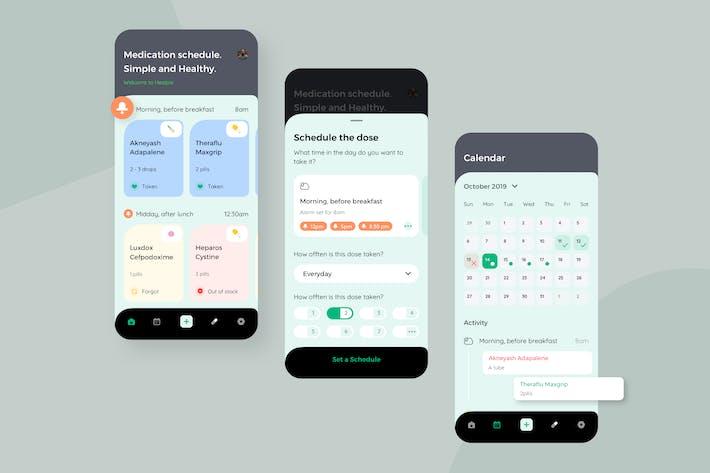 Thumbnail for Healple - Reminder Mobile App UI - N