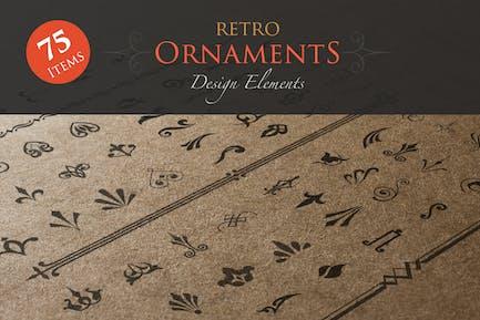 Elementos de Diseño Retro ornamentos