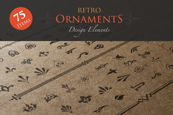 Retro Ornaments Design Elements