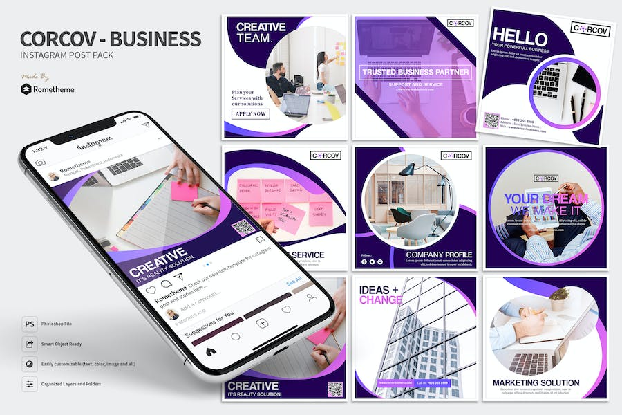 Corcov - Business Instagram Post Pack HR