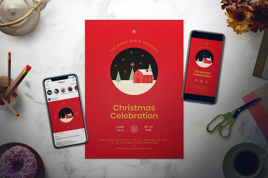 Christmas Flyer Set
