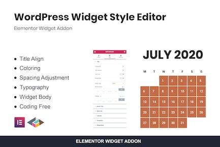 WordPress Widget Style-Editor Elementor Addon