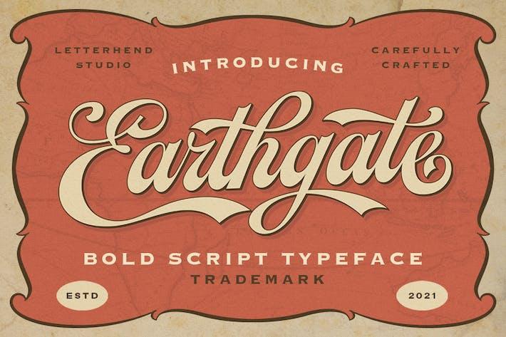 Earthgate - Tipo de letra de escritura negrita