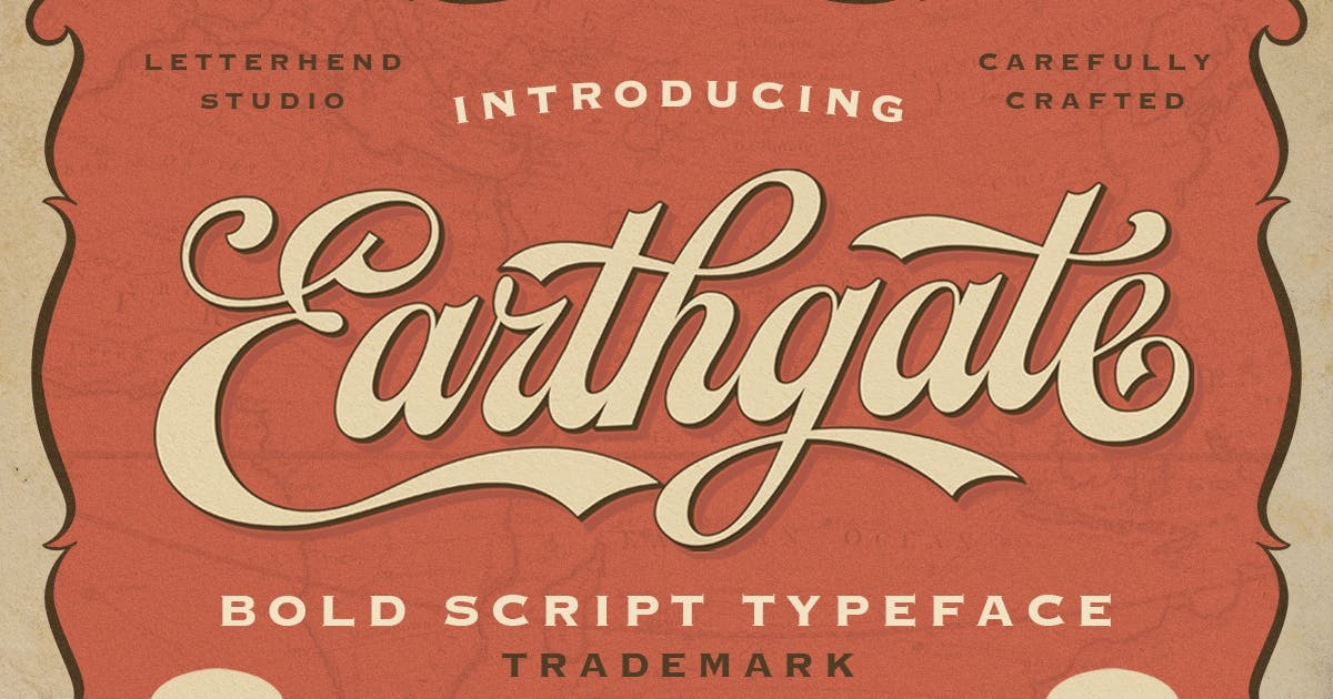 Download Earthgate - Bold Script Typeface by letterhend
